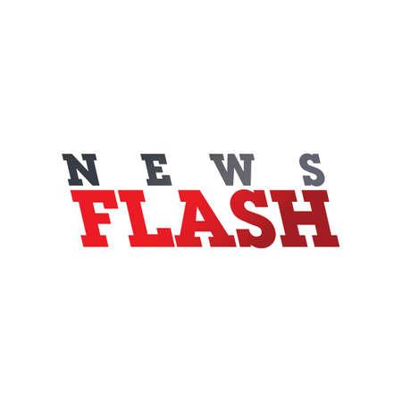 news flash: news flash word text theme vector art illustration