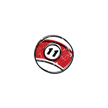 billiard ball: billiard ball sketch grungy doodle theme vector art