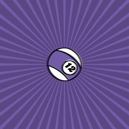 cue ball: billiard ball sketch doodle theme vector art Illustration
