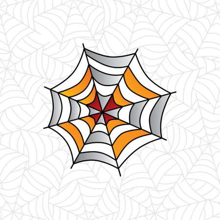 colorful spider web art theme vector art illustration