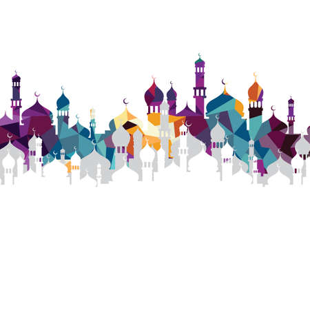 arabic islam calligraphy almighty god allah most gracious theme - muslim faith Vectores