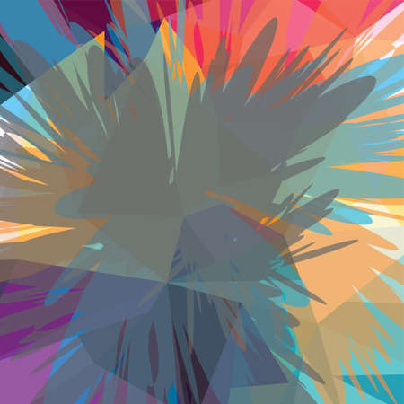Abstract colorful triangle geometrical background vector illustration