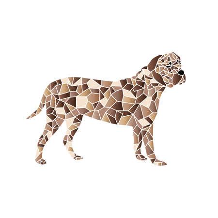 sac: pet dog colorful mosaic pattern designed using mosaic pattern graphic vector