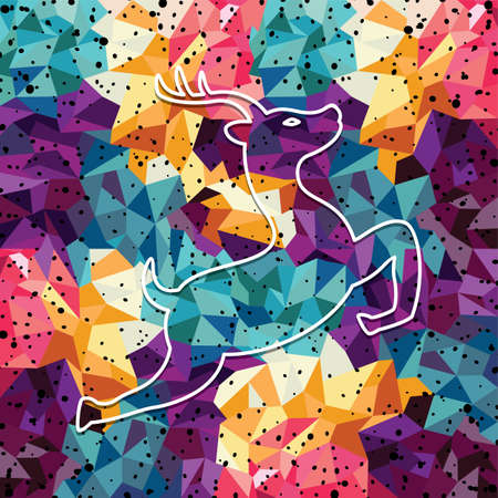 joey: deer colorful mosaic pattern designed using mosaic pattern graphic vector