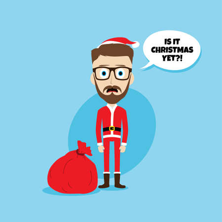 santa claus christmas skinny dad theme vector illustration