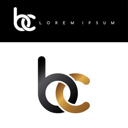 linked: initial letter linked circle lowercase logo gold black background
