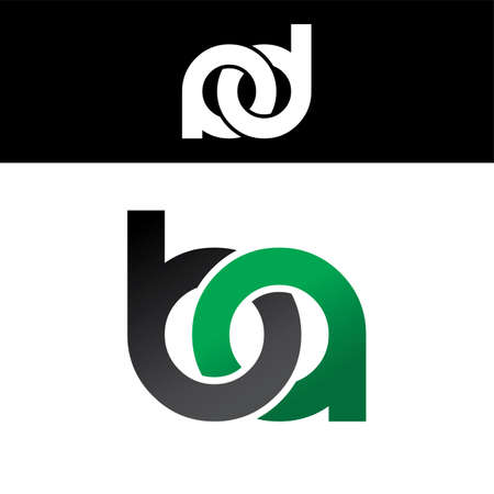 initial: initial letter linked overlapped uppercase green black