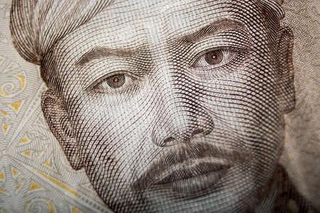 stack of dollar bill: rupiah currency macro close up money photo Stock Photo