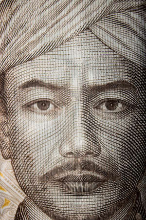 rupiah currency macro close up money photo Stock Photo
