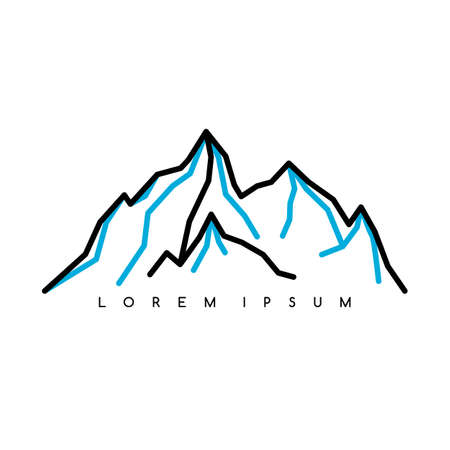 Mountain Everest outdoor adventure insignia Climbing trekking hiking mountaineering and other extreme activities logo template Illustration
