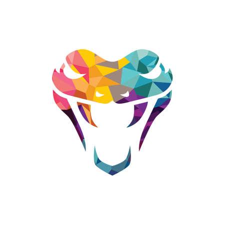 vettore serpente logo template pericolo snake icona vipera nero silhouette