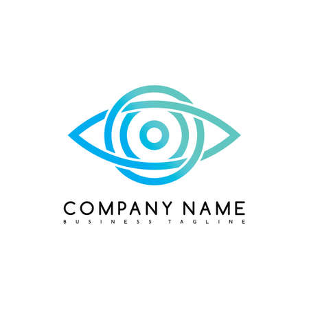 Vector Business emblem blue knot symbol curve looped icon logo logotype art