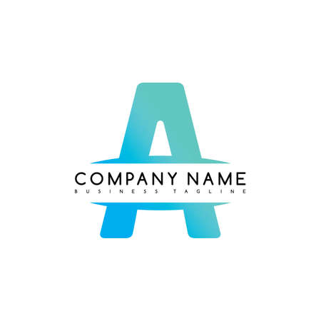 initial: initial letter a exclusive brand company template logo logotype vector art illustration