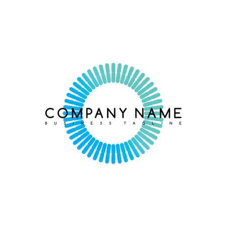 round circle logo logotype brand template vector art illustration