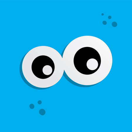 cute adorable ugly scary funny mascot monster eye vector art