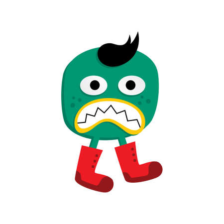 cute adorable ugly scary funny mascot monster vector art