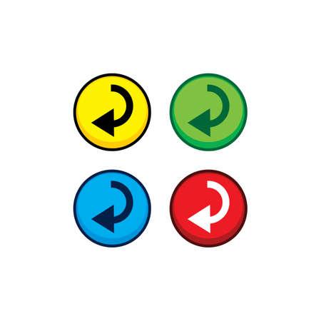 color game asset menu icon button vector art illustration