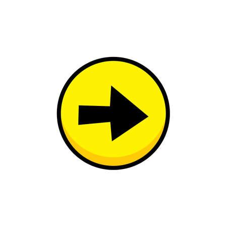 arrow video game asset menu icon button layer vector art illustration Illustration