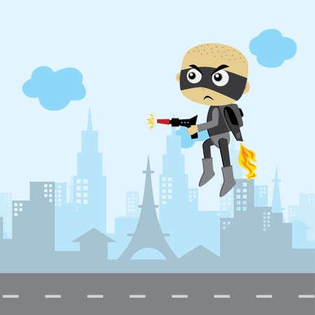 villain enemy game asset cartoon theme vector art illustration
