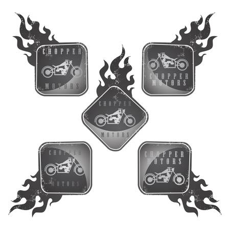 chopper: chopper motorcycle label sticker vector graphic art design illustration
