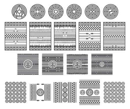 native american art collection vector graphic art design illustration