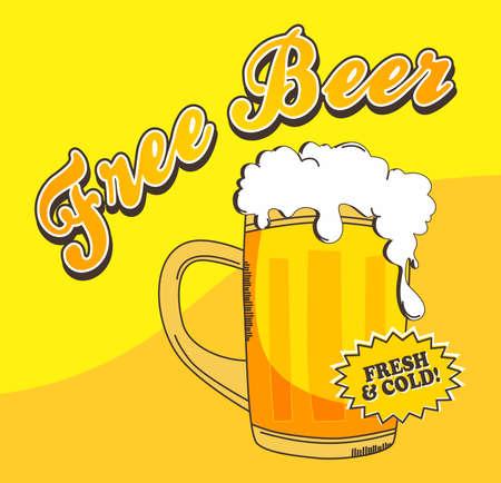 beer theme vector graphic art design illustration