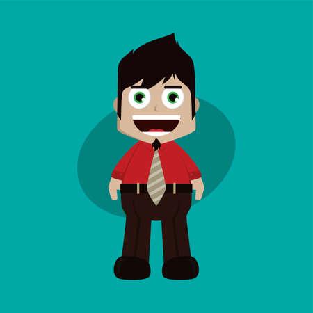 businessman manager at work cartoon vector art illustration Illustration