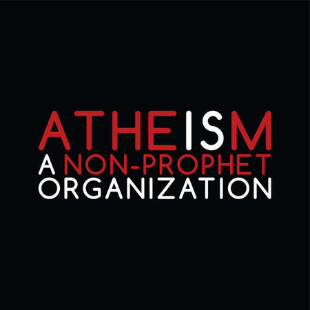atheism theme - against religious ignorance campaign - vector art Imagens - 80501858