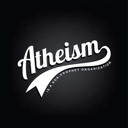 atheism theme - against religious ignorance campaign - vector art Imagens - 80501851