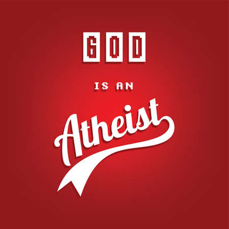 atheism theme - against religious ignorance campaign - vector art Imagens - 80501861