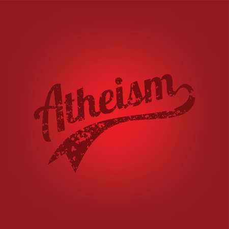 atheism theme - against religious ignorance campaign - vector art