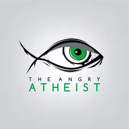 secular: atheism theme - against religious ignorance campaign - vector art