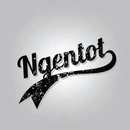 ngentot indonesian curse cursive word grungy varsity text art