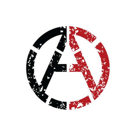 Anarchia Logo del socialismo ateismo - Illustrazione vettoriale Art Archivio Fotografico - 80793383