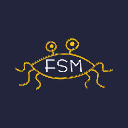 atheism: Flying Spaghetti Monster - Atheism Satyr God Parody Vector Art