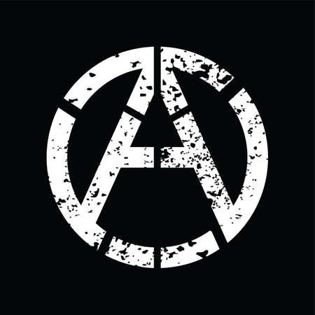socialist: Anarchy Atheism Socialist Logo - Logotype Vector Art Illustration