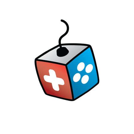 Joystick Logo - Video Game Console Logotype Vector Art Illustration