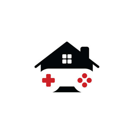 gamepad: house of gaming - video game console - gamer - joystick vector art Illustration