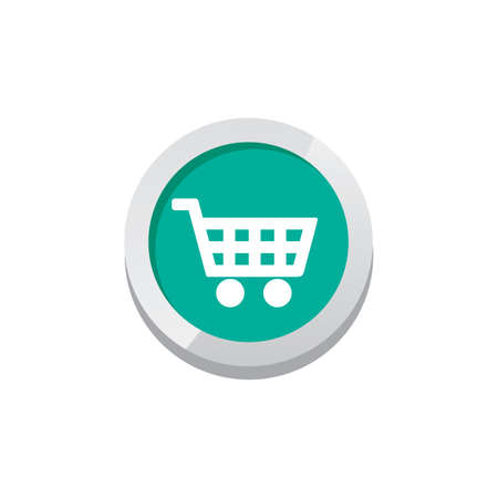 shiny buttons: Shop cart game asset icon sign symbol button vector art