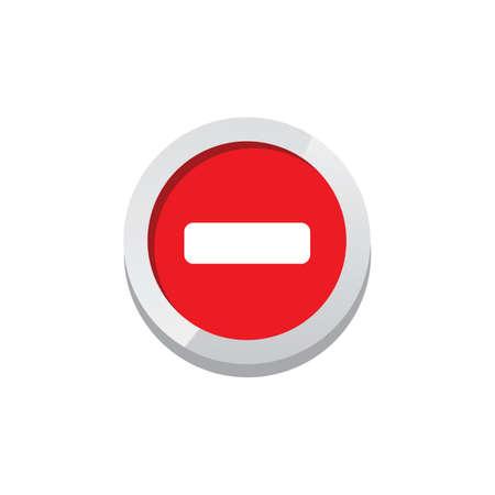 plus minus game asset icon sign symbol button vector art Illustration