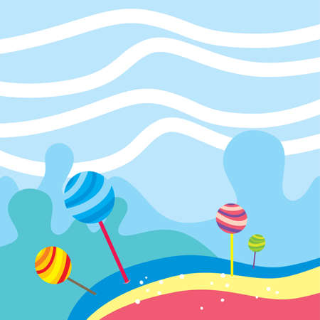 Game asset layer. Video game theme background vector art