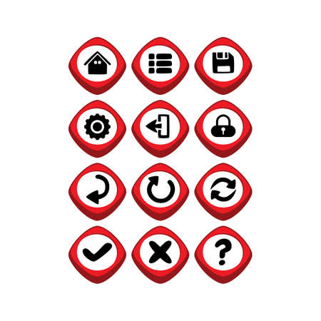 Game asset icon sign vector art Illustration