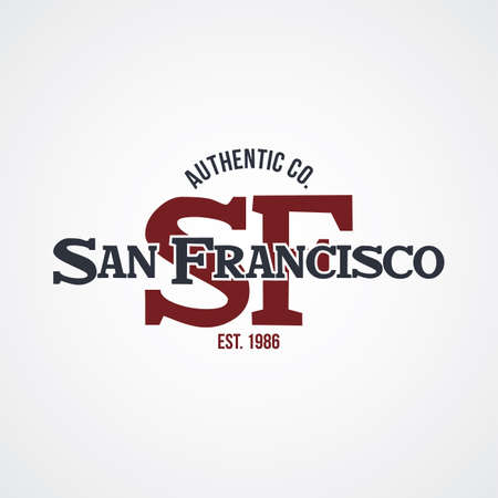 サンフランシスコのアメリカ合衆国代表チーム バッジ ラベル エンブレム スタンプ ベクトル