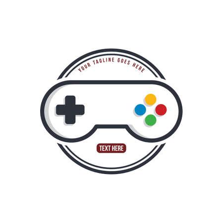 home of video game joystick - logo theme logotype template vector