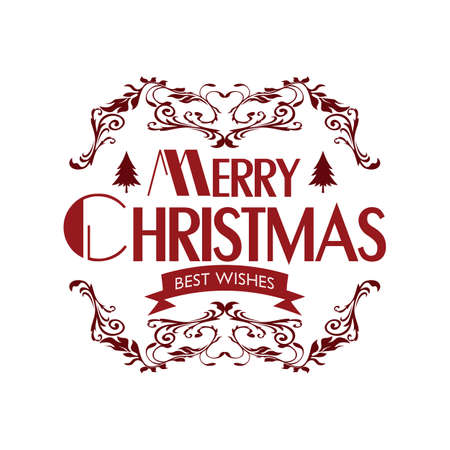 merry christmas and happy new year vector art