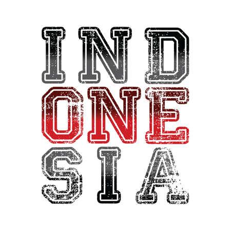 Indonesia art banner. Illustration