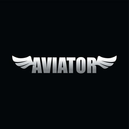 Aviator wing art. Illustration