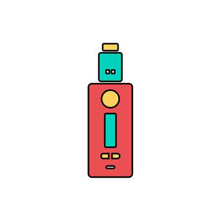vaporizer electric cigarette vapor mod - vape life vector Stock Vector - 87052041