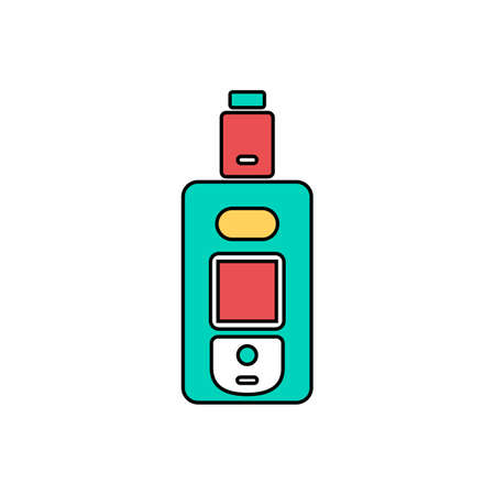 vaporizer electric cigarette vapor mod - vape life vector Illustration