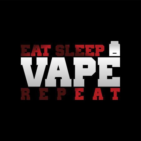 Vaporizer electric cigarette text design. Stock Vector - 87052053